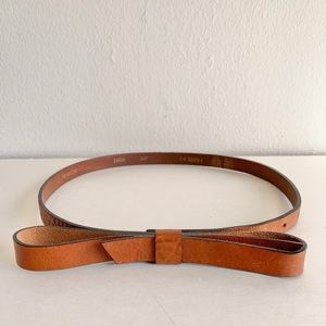Anthropologie leather bow belt